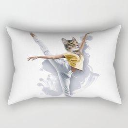 Dancing Cat Girl Pepe Psyche Rectangular Pillow