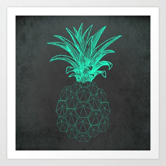 pineapple got the blues Art Print