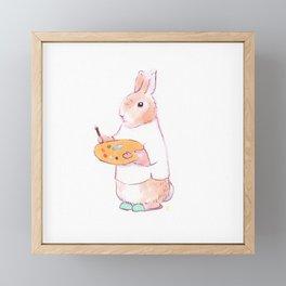 Artist Bunny Framed Mini Art Print