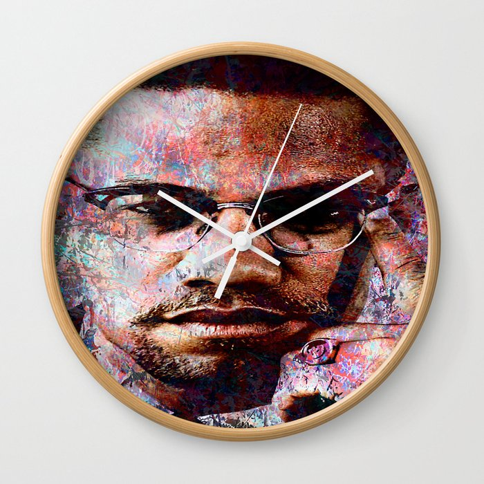 Malcolm X Wall Clock By Vonis Society6