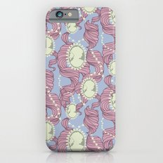 Cameo & Trailing Hair // Pink & Blue Pastels Slim Case iPhone 6s