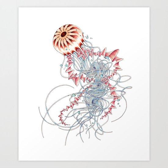 Chrysaora hysoscella Art Print