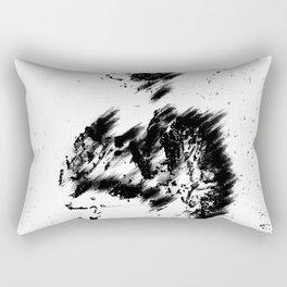 Abstract Soldier (Black) Rectangular Pillow