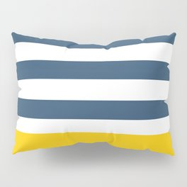 Navy and yellow stripes Pillow Sham