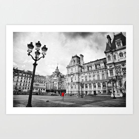 Paris Red Art Print