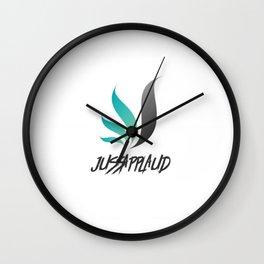 Jussapplaud Logo Wall Clock