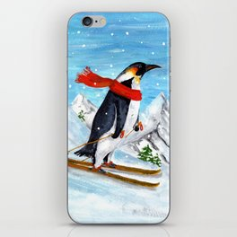 Penguin Alpine Skiing iPhone Skin