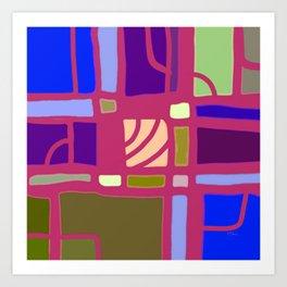 Art Pop: Rectangular Thinking Art Print
