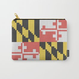 Maryland State Flag Building Block Design Carry-All Pouch