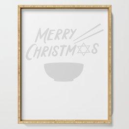 Merry Christmas Hanukkah Jewish Festival Gift Serving Tray