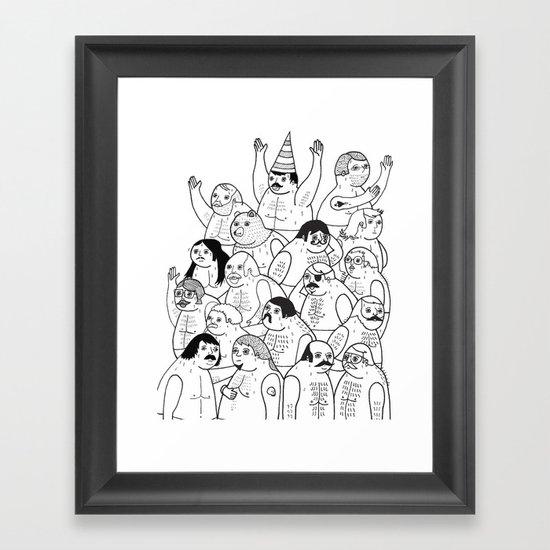 Sauna Club Framed Art Print