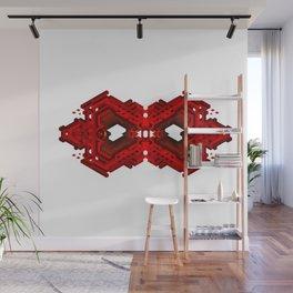Infinite Red Hex -0 Wall Mural