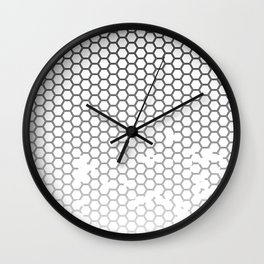 Honeycomb Grunge Wall Clock
