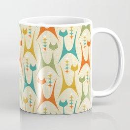Mid Mod Meow on Lt Tan ©studioxtine Coffee Mug