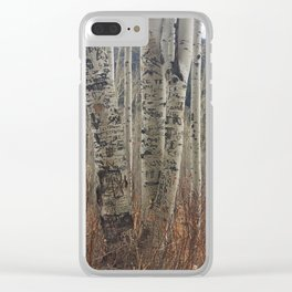 Carve Our Names in the Aspens Clear iPhone Case