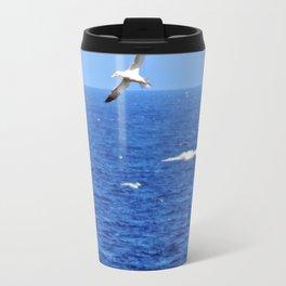 Northern Gannets in Flight Travel Mug