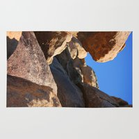 climbing Area & Throw Rugs featuring Climbing Rockfalls by Lindsey's Photos