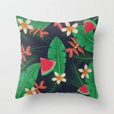Tropical Watermelon Throw Pillow