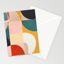 modern shapes 7 Stationery Cards