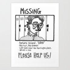 Please find Barb Art Print