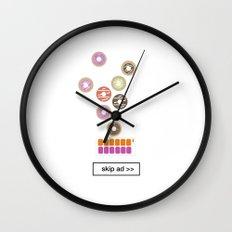 donut ad Wall Clock