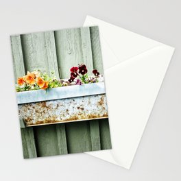 Pansies and Rust Stationery Cards