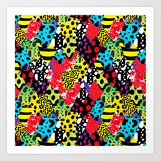 Exotic Frogs Art Print