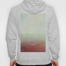 Abstract pastel mint green pink red summer nature landscape Hoody