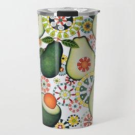 Retro Avocados Travel Mug
