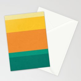 Five Shades of Sunset Stationery Cards