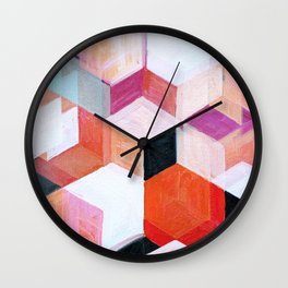 White Paint and Some Colors Wall Clock