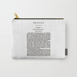 Dracula Bram Stoker First Page Carry-All Pouch