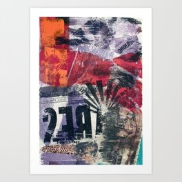 COLLAGE 18 Art Print