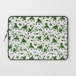 Winter Cats in Hats - Green Laptop Sleeve