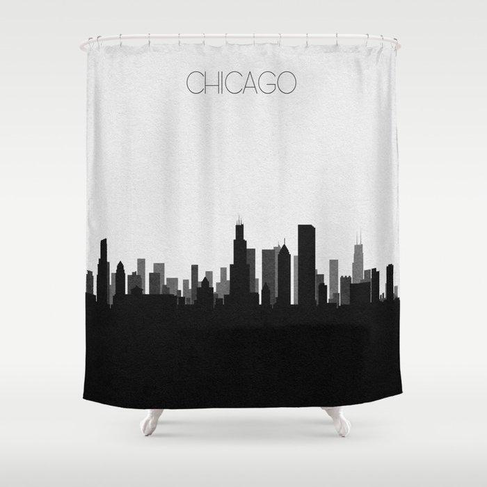 City Skylines Chicago Shower Curtain