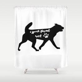 Fluent Woof Shower Curtain