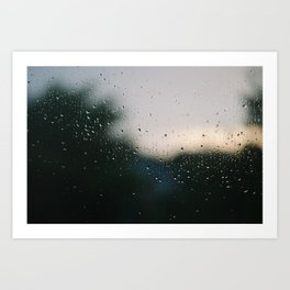 Rainy Downs Art Print