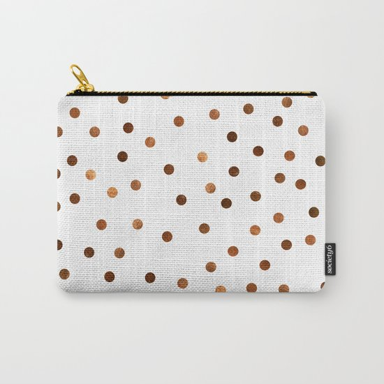 Copper Dots Pattern Carry-All Pouch