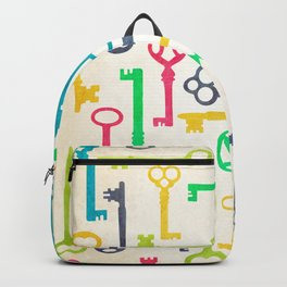 Colorful Vintage Keys Backpack