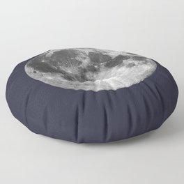 Full Moon on Navy Minimal Design Floor Pillow
