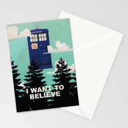 I want to Believe retro telephone box Stationery Cards