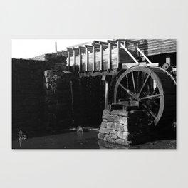 Wheel B&W Canvas Print