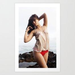 Brittney Lapham - Comfortable Wet Art Print