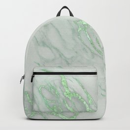 Marble Love Green Metallic Backpack