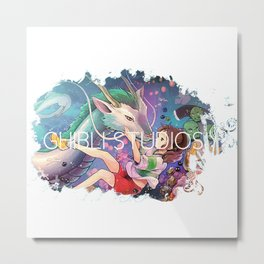 Ghibli Studio Metal Print