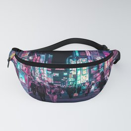 Heart Full Of Neon: Cyberpunk Overload Canvas Print Fanny Pack
