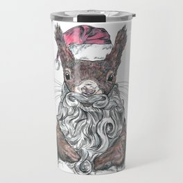 Santa Squirrel Travel Mug