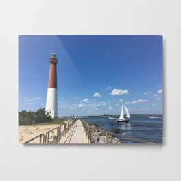 Baesic Lighthouses Rule Metal Print