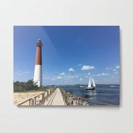 Baesic Lighthouses Rule Metal Print