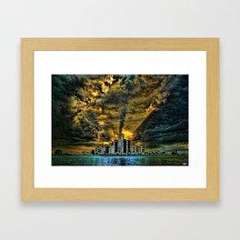 Sunset over Detroit Framed Art Print